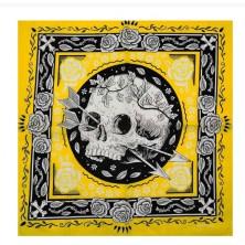 Šátek lebky Rocka Skull & Arrows