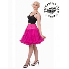 Spodnička dámská retro rockabilly pin-up Banned Walkabout Petticoat Hot Pink