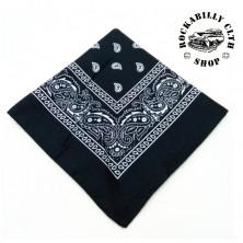 Šátek černý Rocka Oldschool Black White Pattern