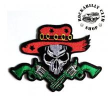 Nášivka Rocka Skull Mexicana