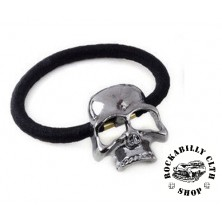 Gumička do vlasů lebka Rocka Hairclip Skull Silver