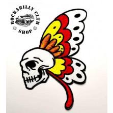 Nášivka smrtihlav Rocka Butterfly Skull