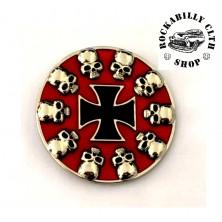 Přezka na pásek Rocka Skulls Cross Buckle