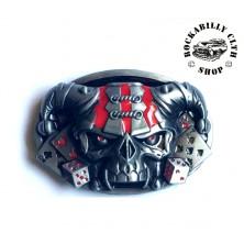 Přezka na pásek Rocka Joker Skull Hazzard Buckle