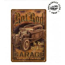 Plechová retro americká US cedule Rocka In Rust we Trust