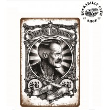 Plechová retro americká US cedule Rocka Smiths Barbers