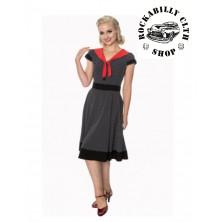 Dámské šaty Rockabilly Retro Pin Up Banned The Insider Dress Blk