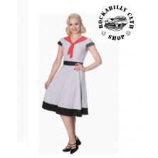 Dámské šaty Rockabilly Retro Pin Up Banned The Insider Dress Wht