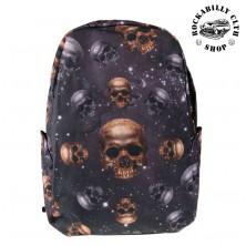 Batoh Banned Skull Bag With Hood