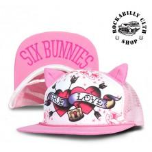 Dětská truckerka Six Bunnies True Love Pink
