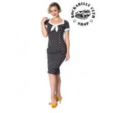 Dámské šaty Rockabilly Retro Pin Up Banned Polka Love Wiggle Dress