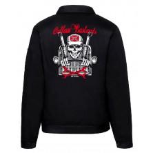 Pánská bunda Outlaw Bastards Skull Trucker