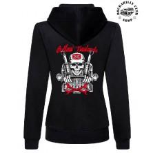 Dámská mikina Outlaw Bastards Skull Trucker Hoodie Zipper