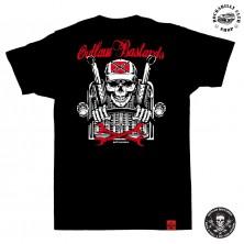 Tričko pánské Outlaw Bastards Skull Trucker