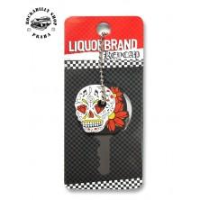 Přívěsek /obal na klíče Liquor Brand Sugar Skull 1