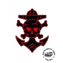 Nášivka Liquor Brand Anchor Skull Red