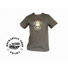 Pánské tričko No Deal Skull Grey