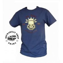 Pánské tričko No Deal Skull Blue