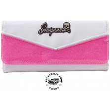 Peněženka Sourpuss Clothing Monroe Wallet Bubblegum/WHT