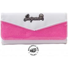 Peněženka Sourpuss Clothing Monroe Wallet Bubblegum/WHT