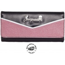 Peněženka Sourpuss Clothing Monroe Wallet Pink/BLK
