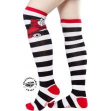 Nadkolenky Sourpuss Clothing Skate Socks Red