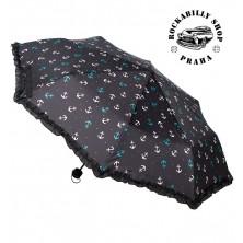 Deštník Sourpuss Clothing Nautical Anchors Umbrella