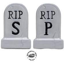 Pepřenka / slánka Sourpuss Clothing Tombstone Salt & Pepper Shakers