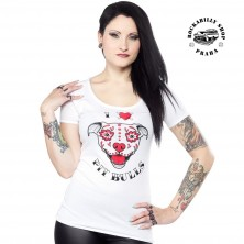 Tričko dámské Sourpuss Clothing I Heart Pit Bulls Scoop Tee