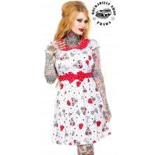 Šaty Sourpuss Clothing Pit Bulls Lizzie Dress