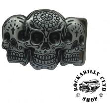 Přezka na pásek Rocka Three Skulls Buckle