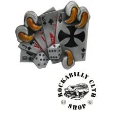 Přezka na pásek Rocka Claw Cards Buckle